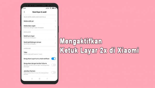 Cara Mengaktifkan Ketuk Layar 2x di Xiaomi